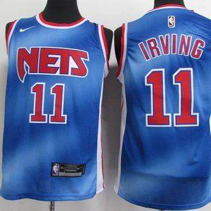 Brooklyn Nets #11 Kyrie Irving Retro Blue Jersey